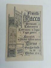 Cartolina Pubblicitaria Fratelli Vacca Mobili Torino pubblicità