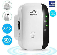 300Mbps Wireless WiFi Repeater Signal Super Booster Amplifier Range Extender US