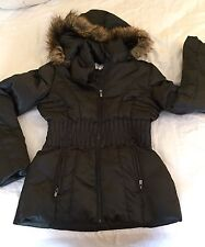 9e478b7c3851c NEW Laundry Shelli Segal S DOWN COAT Faux Fur Removeable Hood PUFFER JACKET