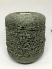 Baby Alpaca Green Khaki Cone Yarn - 35.25oz (1000g) Yarn On Cone - Lace Yarn