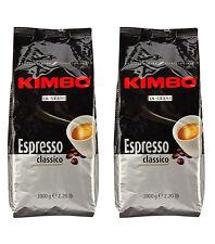 2kg KIMBO ESPRESSO CLASSICO in Grani busta da 1kg caffè chicchi bar NUOVO