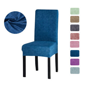 Stretch Spendex Dining Chair Cover Seat Slipcovers Washable Dining Wedding Decor