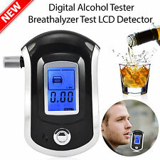 New Professional LCD Digital Breath-Alcohol Tester Breathalyser Police UK Seller