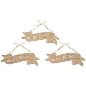 Small Shabby Country Chic Wedding Plaque Mr & Mrs, Just Married, Our Wedding