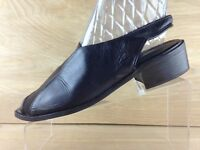 Munro American Womens Dark Brown Open Toe Slingback Sandal Size 11N