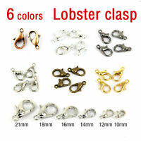 20-100 Silver Gold Bronze Lobster Claw Clasps Hook Jewelry Finding 10/12/14/16mm