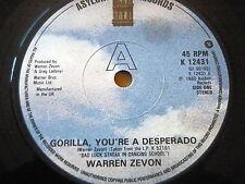 "Warren Zevon-Gorilla, vous êtes un Desperado 7"" vinyle"