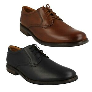 MENS CLARKS BECKEN LACE LEATHER SMART CLASSIC OFFICE FORMAL LACE UP SHOES SIZE
