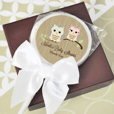 24 Woodland Owl Personalized Lollipops Lollipop Baby Shower Birthday Favors