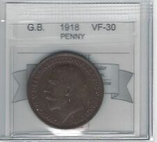 *1918*Great Britain, Penny, Coin Mart Graded *Vf-30*