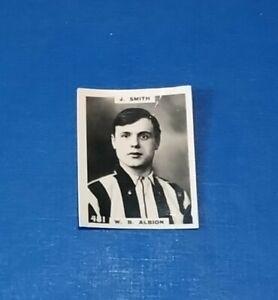 WEST BROMWICH ALBION FOOTBALL CLUB 1920s PINNACE B+W PHOTO CARD J SMITH # 481 WB