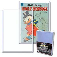 5 BCW Golden Age Comic Book Hard Topload Holders - Rigid Plastic Toploader