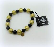 Bracciale elastico DIVA GIOIELLI sfere argento 925 placcato oro giallo satinato