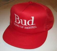 Vintage Bud King of Beers Red Nascar Budweiser Mesh Racing Hat