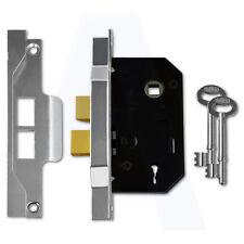 "Union 2242 2 Lever Sashlock 64mm/2.5"" Mortice Door Lock Silver Enamelled"