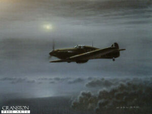 Gerald Coulson Battle of Britain Hurricane Fighter Pilot signed aviation print
