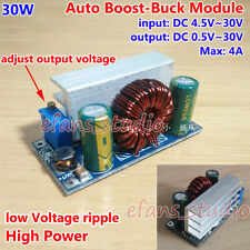 30W DC 4.5V~30V to 1~30V 12V 4A Buck/Boost Converter Auto Step Up/Down Regulator