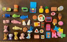 New listing Japanese Eraser Panda, Dog, Penguin, Dolphin, Hamster, Sushi, Food - 40 Erasers