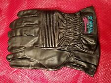 NOS O'NEAL BLACK TOURING ROAD LEATHER ADULT GLOVES 0450-012 XXL SZ12