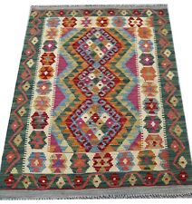 REAL Genuine Afghan Handmade Tribal Multi Colour Wool Kilim  Area Rug 80x120 cm