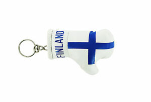 Keychain Mini boxing gloves key chain ring flag key ring cute finland finnish