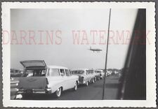 Vintage Car Photo 1957 Chevrolet Wagon 1955 Buick Airplane Flying in Sky 748314