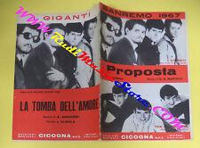 RARO SPARTITO SINGOLO I GIGANTI THE BACHELORS Proposta La tomba amore no cd lp
