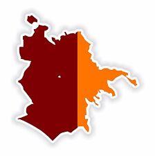 ROMA LAZIO city map flag Adesivo Decalcomania Per Laptop Tablet PORTA FRIGO