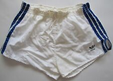 Adidas vintage 1980s white blue shorts Hose soccer running made in West Germany
