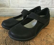 Clarks Womens Cloud Steppers Black Sillian Bella Mary Jane Flats Sz 7 W NEW