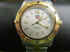 Men's TAG HEUER Professional 2000 Two Tone Watch WK1120 200 Meters Stainless
