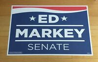 Ed Markey Massachusetts Official 2020 Senate Campaign Sign Poster Placard