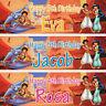 2 x Personalised Birthday Banner Aladdin Princess Children kids Party decoration