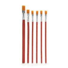 6 X Künstler Pinsel Set Nylon Haar Aquarell Acryl Ölgemälde liefert AA