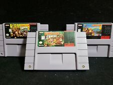 Donkey Kong Country 1, 2, & 3 Super Nintendo SNES Authentic Original 1992 Tested