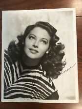 AVA GARDNER Original Autographed Signed publicity photo