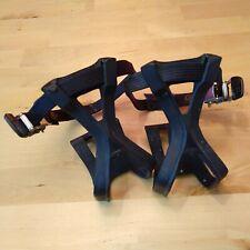 Vintage 90s GT Clips Toe Cages & Straps Pedal MTB J3