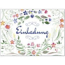 12 x Einladungskarten 12 Umschläge Motiv: Geburtstag aquarell Blumen Einladung