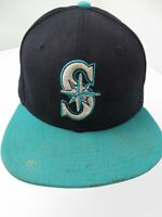 Seattle Mariners New Era Fitted 7 1/2 Adult Baseball Ball Cap Hat