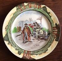 Royal Doulton Automobile Series Plate Deaf Good Condition Antique