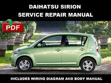 DAIHATSU SIRION 2004 2005 2006 2007 2008 2009 2010 FACTORY SERVICE REPAIR MANUAL