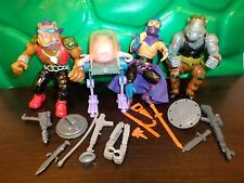 TMNT (4) FIGURE BAD GUY LOT 100% COMPLETE TEENAGE MUTANT NINJA TURTLES