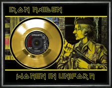 More details for iron maiden - women in uniform - framed and mounted gold 45rpm 7