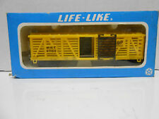 "LIFE-LIKE #8582 HO Scale 42' Outside Braced Stock Car ""M.K.T."" ""the Katy"" RTR"