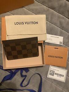 Louis Vuitton Damier Ebene card holder.