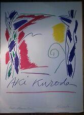 Aki Kuroda : Lithographie originale signée au crayon