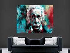Arte Digital Abstracto científico Albert Einstein imagen Grande De Pared Póster Gigante