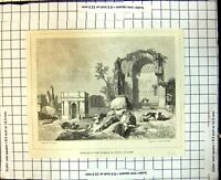 Old Antique Print Remains Temple Venus Rome T Ayler J & G Nicholls 1853 19th