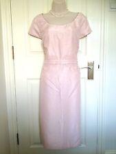 Jacques Vert Pink Lace Appliqué Fitted Pencil Dress UK Size 20 Summer Wedding