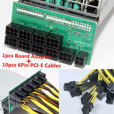 DPS-1200FB/QB Power Supply Breakout Board &10 Cable 6pins For Ethereum Mining